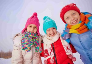 Фото детей зимой зимний лагерь Академии БИГ БЕН